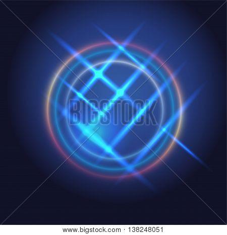 Blue background overlap dimension vector illustration message board for text and message design modern website