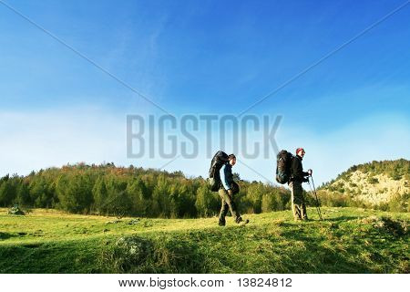 boy and girl in hike