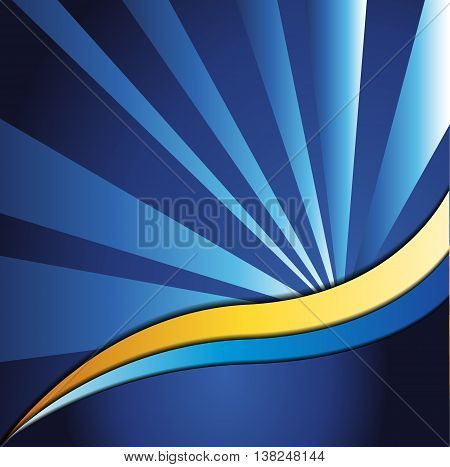 Blue abstract background vector. Blue background design with space for message