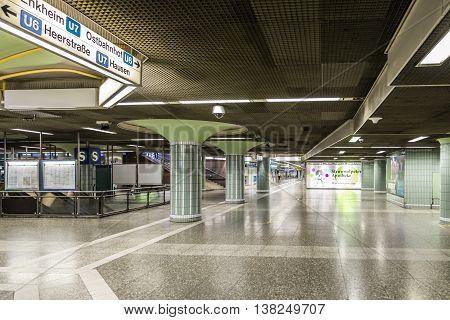 Subway Train Station Hauptwache In Frankfurt