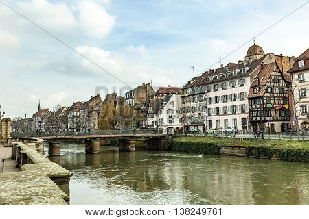 The Old Half-timbered Houses Of Strasbourg, France
