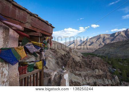 Lamayuru Monastery, View Of Lamayuru Monastery In Leh-ladakh, India. Lamayuru Is A Tibetan Buddhist