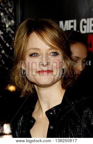Jodie Foster at the Los Angeles premiere of 'Edge of Darkness' held at the Grauman's Chinese Theater in Hollywood, USA on January 26, 2010.