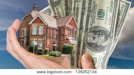 Hand Holding House - Sale Of Real Estate