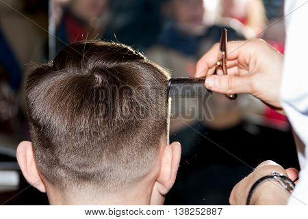 Professional fashion haircut process. Best hair designer.