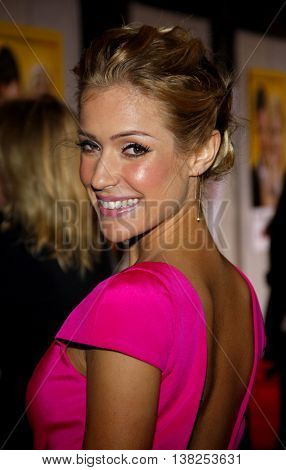 Kristin Cavallari at the World premiere of 'When in Rome' held at the El Capitan Theater in Hollywood, USA on January 27, 2010.
