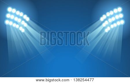 Light stadium mast vector illustration