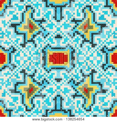 seamless pattern of colored small pixels vector illustration abstract high quality