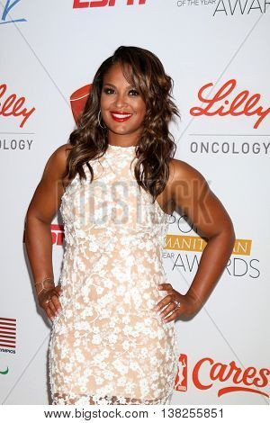 LOS ANGELES - JUL 12:  Laila Ali at the 2nd Annual Sports Humanitarian Of The Year Awards at the Congo Room on July 12, 2016 in Los Angeles, CA