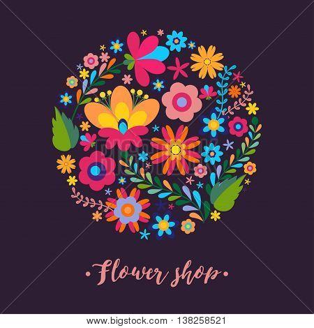 Unique floral design concept for beauty salon, organic cosmetics brand, flower shop. Unique floral design concept for beauty salon, organic cosmetics brand, flower shop