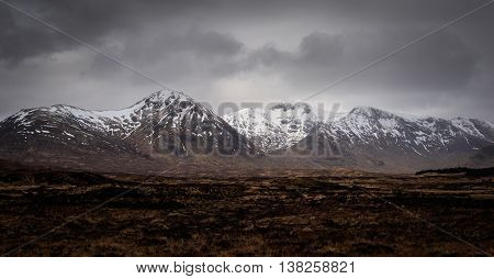 A landscape view of Glencoe Scotland UK.