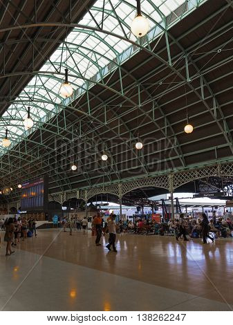 Sydney - February 25 2016: Beautiful Sydney Central Station and a lot of people and tourists traveling to Australia February 25 2016 Sydney Australia