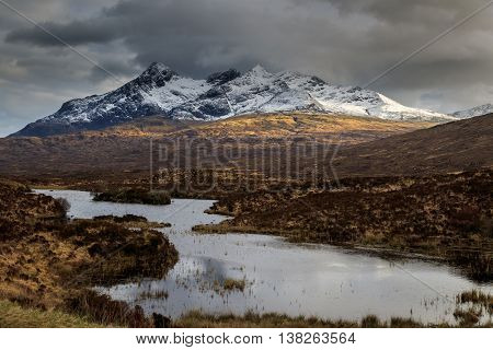 A scenic view of the Isle of Skye Scotland UK