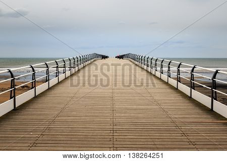 Pier at Saltburn by the Sea North Yorkshire coast UK.