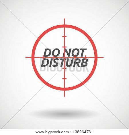 Isolated Red Crosshair Icon With    The Text Do Not Disturb
