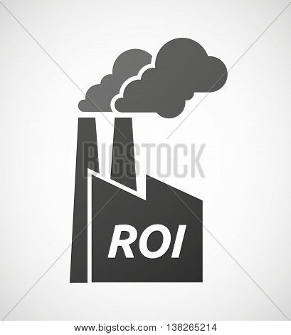 Isolated Industrial Factory Icon With    The Return Of Investment Acronym Roi