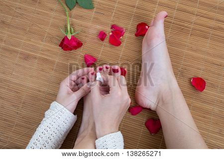 Care For Beautiful Woman Legs And Feet