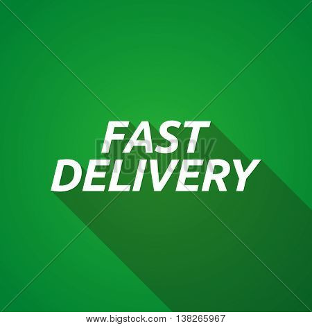 Long Shadow Illustration Of  The Text Fast Delivery