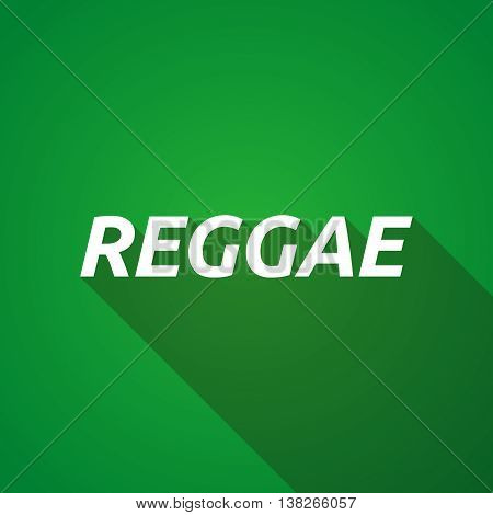 Long Shadow Illustration Of    The Text Reggae