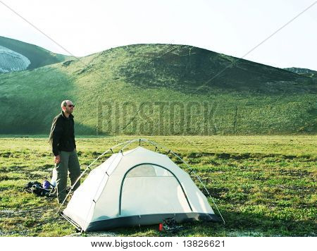 tent in the mountain