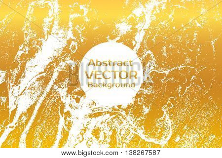 Gold Abstract Painted Marble Illustration.