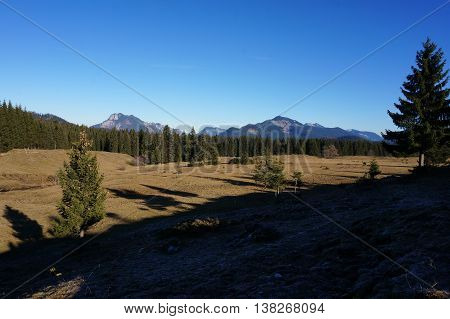 top of a mountain overviewing the landscape with forests and other mountains