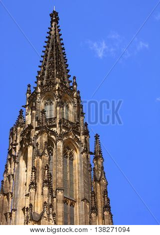 Prague, travel photo, summer day and blue sky