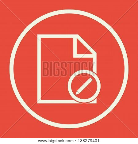 File Edit Icon In Vector Format. Premium Quality File Edit Symbol. Web Graphic File Edit Sign On Red