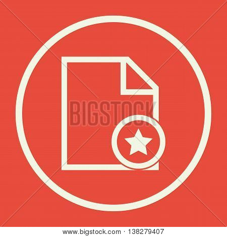 File Star Icon In Vector Format. Premium Quality File Star Symbol. Web Graphic File Star Sign On Red