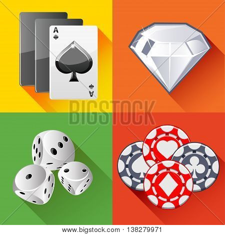 design collection Poker icon in vector illustrations