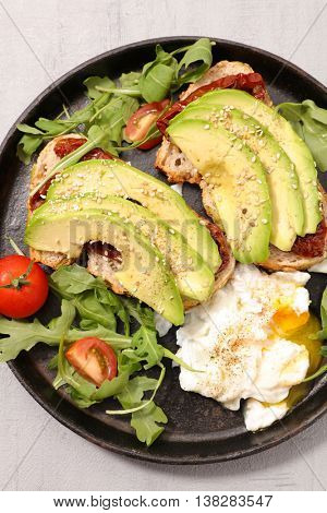 avocado toast and poached egg