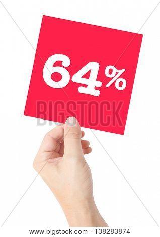 64 percent on white