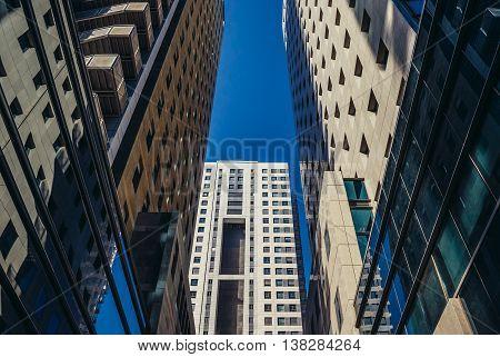Tel Aviv Israel - October 21 2015. Apartment high-rise building in Tel Aviv