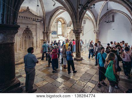 Jerusalem Israel - October 22 2015. People visits The Last Supper caled Cenacle in the city of Jerusalem