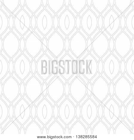 Seamless vector ornament. Modern geometric pattern with repeating wavy lines. Light silver pattern