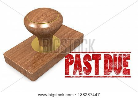 Past Due Wooded Seal Stamp