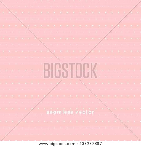 seamless Polka dot pattern on pink background, vector.