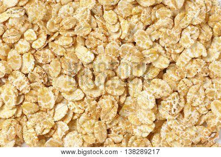 pile of oat flakes - full frame