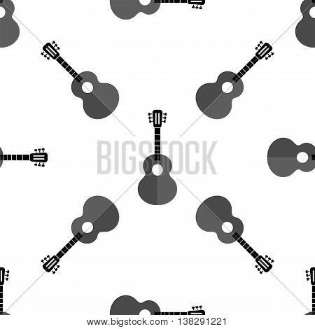 Guitar Silhouette Seamless Background. Musical Instrument Pattern