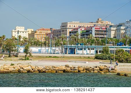 Civitavecchia Italy - May 28 2016: A view of Civitavecchia a major cruise and ferry port also known as