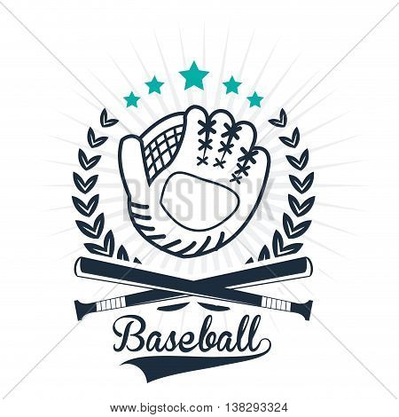 Baseball sport concept represented by glove icon. Isolated and Colorfull illustration.