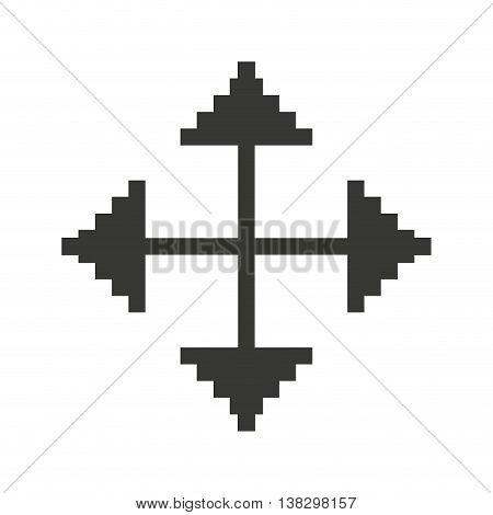 Computer mouse target pointer isolated icon design, vector illustration  graphic