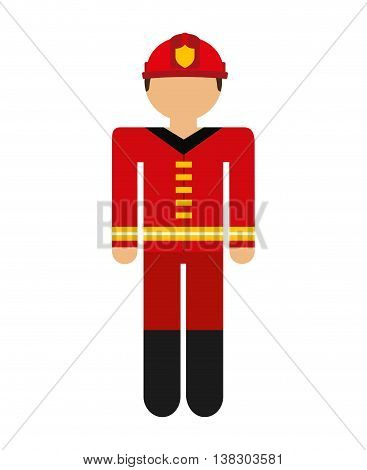 firefighter avatar isolated icon design, vector illustration  graphic