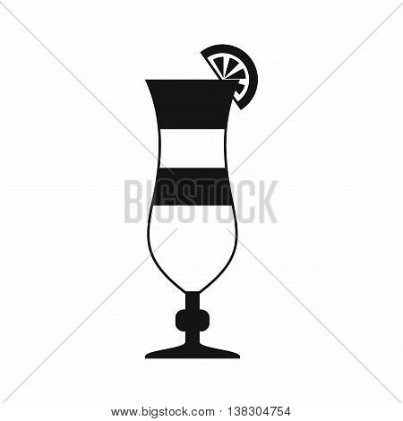 Cocktail icon in simple style isolated vector illustration