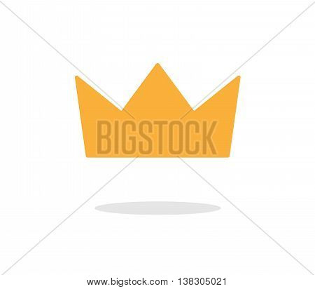 Gold King Crown Vector Icon, a hand drawn vector icon illustration of a golden crown.