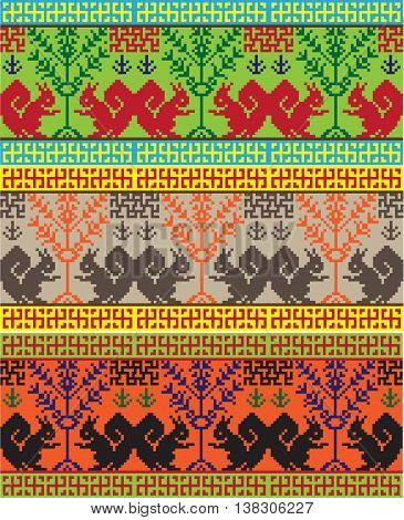 national embroidery picture pattern among the Slavic peoples