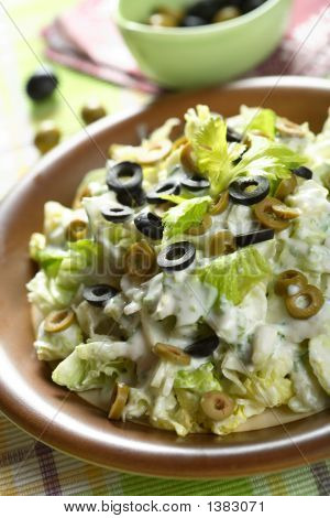 Salad Made From Celery And Olives