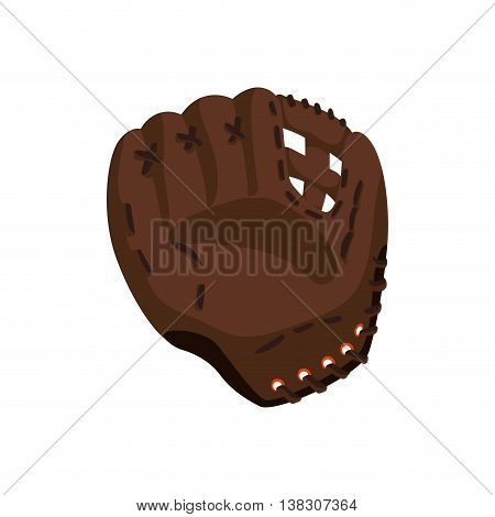 Sport concept represented by baseball glove icon. Isolated and flat illustration.