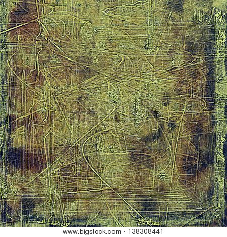 Grunge scratched background, abstract vintage style texture with different color patterns: yellow (beige); brown; gray; black; green