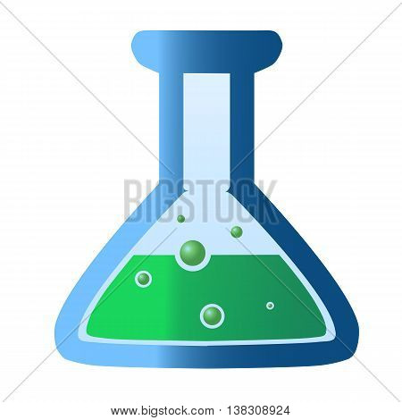 flat-bottomed conical flask, used for storing and mixing materials